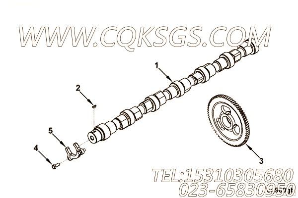 【引擎B170 30的性能件组】 康明斯凸轮轴,参数及图片