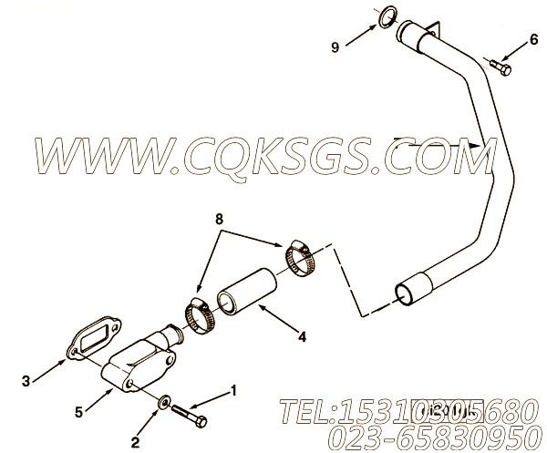 3819871O型圈,用于康明斯M11-C330 E20动力空压机进水管组,【可控震源车】配件