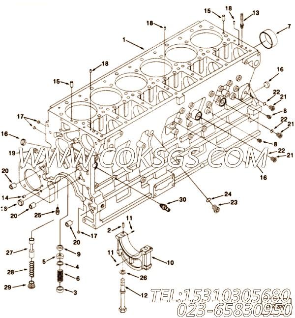 3007635碗塞,用于康明斯M11-350柴油发动机气缸体附件组,【抽沙船用】配件