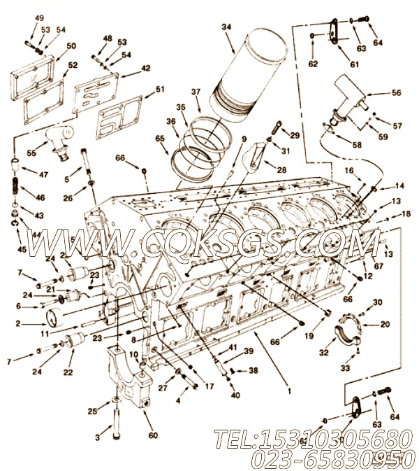 3081489缝隙密封圈,用于康明斯KTA38-G5主机基础件组,【动力电】配件