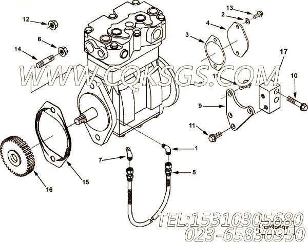 【发动机CL285 40的起动机安装件组】 康明斯十二角头螺栓,参数及图片