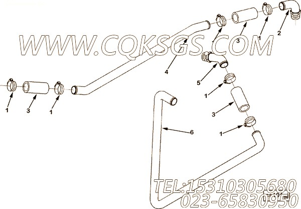 152547接头,用于康明斯NTA855-C400主机发动机散件组,【垃圾压实车】配件
