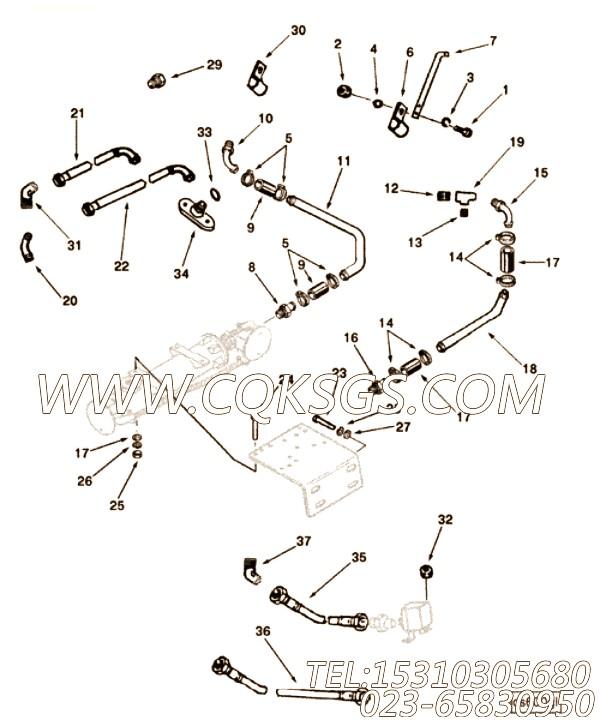 【柔性软管】康明斯CUMMINS柴油机的3178365 柔性软管