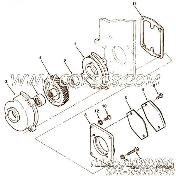 【液压泵适配器】康明斯CUMMINS柴油机的3025481 液压泵适配器