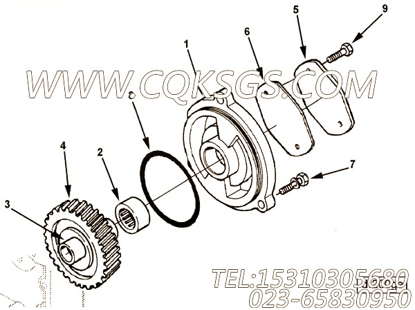 用于进口ISM11柴油机驱动齿轮