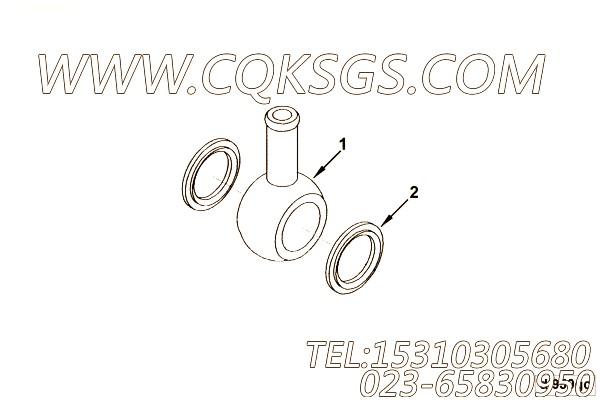【C3967129】单向管接头 用在康明斯柴油发动机
