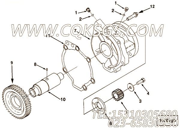 3883123螺栓,用于康明斯ISM320V动力附件驱动组,【船舶机械】配件