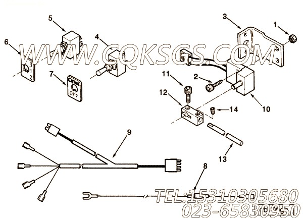 3043118支架,用于康明斯ISM450主机散件组,【船舶用】配件