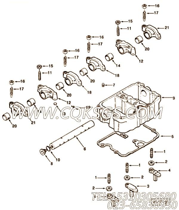 【阀十字头】康明斯CUMMINS柴油机的3043541 阀十字头