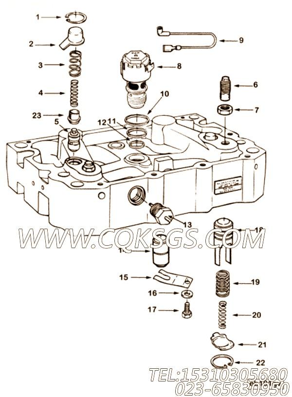 【12V电磁阀】康明斯CUMMINS柴油机的3871635 12V电磁阀