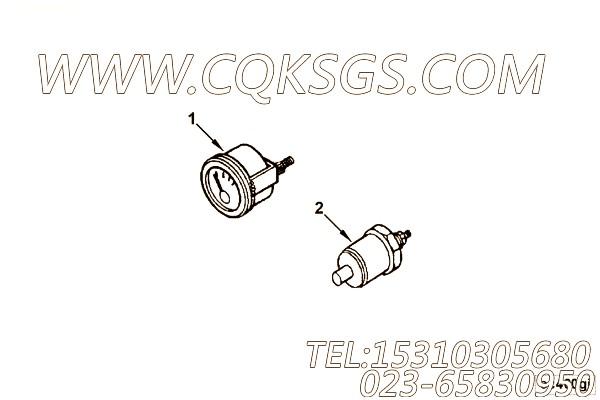 【压力表】康明斯CUMMINS柴油机的3030871 压力表