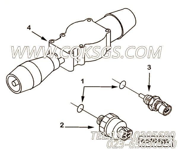【压力传感器】康明斯CUMMINS柴油机的3083716 压力传感器