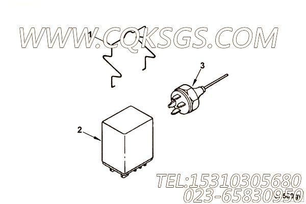 【继电器家臣】康明斯CUMMINS柴油机的3034957 继电器家臣