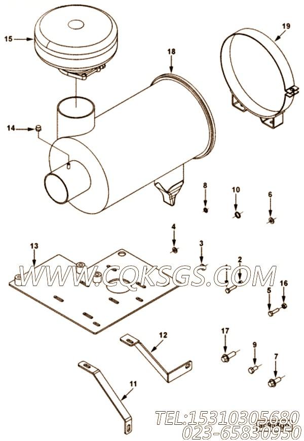 【空气净化器支架】康明斯CUMMINS柴油机的4099425 空气净化器支架
