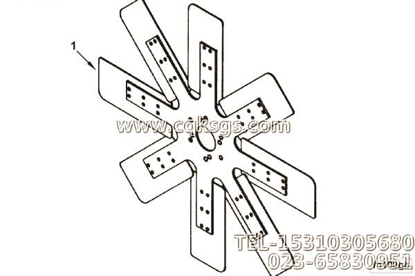 康明斯pc400挖掘机风扇 cumminspc400挖掘机风扇