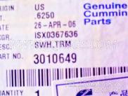 3010649水温表,用于康明斯KTA19-M500发动机仪表板总成组,更多【抽沙船用】配件报价