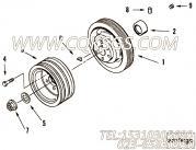3023473附件驱动皮带轮,用于康明斯NT855-C280发动机附件驱动皮带轮组,更多【宣化推土机】配件报价
