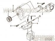 【充电机支架】康明斯CUMMINS柴油机的3906616 充电机支架