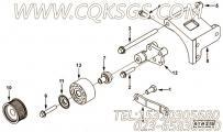 【引擎6CTA8.3-C230的发电机安装件组】 康明斯发电机皮带轮报价,参数及图片