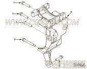 【充电机支架】康明斯CUMMINS柴油机的4935506 充电机支架