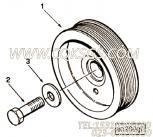 3818463平垫圈,用于康明斯M11-C350 E20主机附件驱动皮带轮组,更多【挖掘机】配件报价