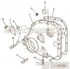 【齿轮罩】康明斯CUMMINS柴油机的3024451 齿轮罩
