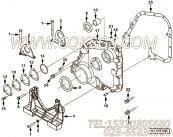 3418659正时齿轮室盖,用于康明斯NTA855-C360柴油发动机发动机前支架组,更多【哈尔滨博威矿用自卸车】配件报价