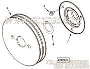 【附件传动皮带轮】康明斯CUMMINS柴油机的4080400 附件传动皮带轮