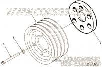 3005436六角螺栓,用于康明斯KT38-G-550KW柴油机风扇隔套组,更多【发电机组】配件报价