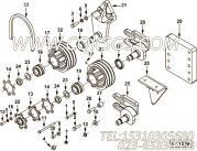 211854风扇轴,用于康明斯NTA855-C360柴油机风扇布置组,更多【油田压裂车】配件报价