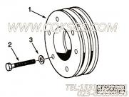 【曲轴皮带轮】康明斯CUMMINS柴油机的C0104137400 曲轴皮带轮