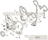 3627026齿轮室盖,用于康明斯KTA38-M1柴油发动机前齿轮室组,更多【轮船用】配件报价