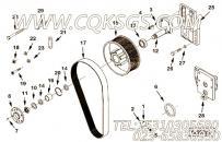 206506自锁螺母,用于康明斯KTA38-G2-660KW柴油机风扇布置组,更多【动力电】配件报价