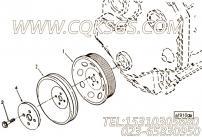 【柴油机4BTAA3.9-C130的驱动接头组】 康明斯减振器固定螺栓报价,参数及图片