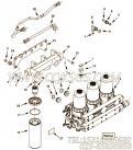 【过滤器支架】康明斯CUMMINS柴油机的4964141 过滤器支架