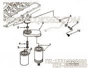 【柴油机6BT5.9-C118的燃油滤清器连接管路组】 康明斯琶形接头螺栓报价,参数及图片