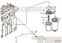 【滤清器座连接件】康明斯CUMMINS柴油机的3903845 滤清器座连接件