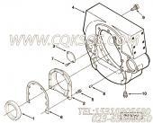 3011342带垫螺栓,用于康明斯NTA855-G1(M)-60HZ动力出水管安装组,更多【船用】配件报价