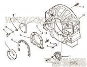 AR10833后盖板,用于康明斯NT855-C310发动机飞轮壳组,更多【中联重科推土机】配件报价