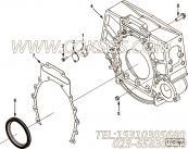 3026134盖板衬垫,用于康明斯M11-C350动力飞轮壳总成组,更多【可控震源车】配件报价