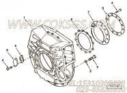 3883622卡箍,用于康明斯M11-C300柴油发动机飞轮壳组,更多【材料运输车】配件报价