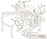 3627650飞轮壳衬垫,用于康明斯KTA38-C1200动力飞轮壳组,更多【哈尔滨博威矿用自卸车】配件报价