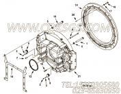 207572飞轮连接盘,用于康明斯KTA38-C1200主机飞轮壳组,更多【首钢矿用自卸车】配件报价