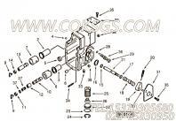 214144调节螺钉,用于康明斯KTA19-C525柴油发动机燃油泵总成组,更多【材料运输车】配件报价