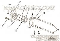 S270螺母,用于康明斯M11-C330 E20动力节流拉杆组,更多【打桩机】配件报价