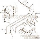 3069178异径三通接头,用于康明斯NTA855-G4动力燃油进回油管路组,更多【电力】配件报价