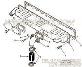 3821695中冷器,用于康明斯M11-C300柴油发动机排气管组,更多【深圳寿力空压机】配件报价