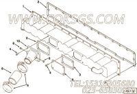 3028384盖板,用于康明斯M11-C310柴油机排气管布置(空空中冷用)组,更多【道路清筛车】配件报价