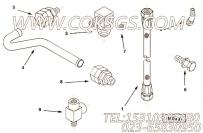 3629437油管接头,用于康明斯KTA38-M1柴油机燃油管组,更多【船舶用】配件报价