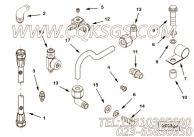 205275十二角螺栓,用于康明斯KTA19-C525动力机油冷却器组,更多【材料运输车】配件报价